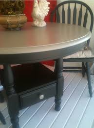 FAUX me nots Round Kitchen Table and Chairs painted with