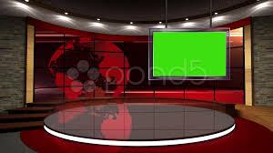 News TV Studio Set 07