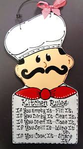 FAT CHEF Kitchen Rules Sign Plaque Bistro Cucina Wall Italian Decor Wood Craft