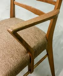 Upholstered Dining Chairs Set Of 6 by Mid Century Set Of Teak Scandinavian Design Dining Chairs