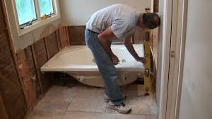 Tiling A Bathtub Deck by Installing A Whirlpool Jet Tub Part 1 Youtube