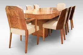 Art Deco Dining Table Chairs And Carvers Attributed To Hille