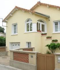 decoration facade exterieur maison couleur crepi sur idee deco