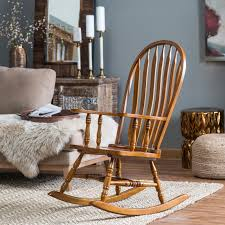 Belham Living Windsor Rocking Chair - Oak Whosale Rocking Chairs Living Room Fniture Set Of 2 Wood Chair Porch Rocker Indoor Outdoor Hcom Traditional Slat For Patio White Modern Interesting Large With Cushion Festnight Stille Scdinavian Designs Lovely For Nursery Home Antique Box Tv In Living Room Of Wooden House With Rattan Rocking Wooden Chair Next To Table Interior Make Outside Ideas Regarding Deck Garden Backyard