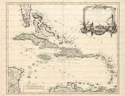 Map Of Antilles From The 1700s 106 Tropical Vacation