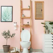 bad hängeschrank bambus 2 fächer höhenverstellbarer einlegeboden badschrank hxbxt 66 x 35 x 20 cm natur