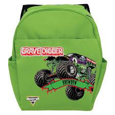 100 Monster Truck Backpack Jam Grave Digger Green Toddler Tvs Toy Box