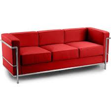 canape le corbusier canapé 3 places cuir inspiré lc2 le corbusier lestendances fr