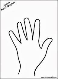 Hand Pattern Use The Printable Outline For Crafts Creating