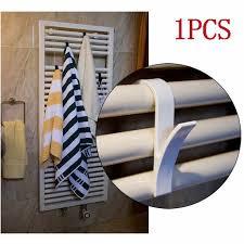 1 stücke hohe qualität kleiderbügel für heizung handtücher heizkörper schiene bad haken kleiderbügel folding schal aufhänger weiß kleiderbügel