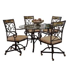Hillsdale Furniture Pompeii Black Gold/Slate Mosaic Metal 5-piece Dining  Set With Caster Chairs 100 Kitchen Table Sets With Rolling Chairs 41 Drop Leaf Tables For Small Spaces Big Style Islamorada Indoor Rattan 5 Piece Swivel Tilt Caster Ding Set Modern Restaurant And Cheap Patio Fniture Alinum Balconies Buy Tablesalinum Room Casters Layjao Design Amaza Retro And 70s Chromecraft Dinette Ding Room Coffee Ikea Rectangular Table Illustration Cartoon Chair Collar Guest Sancal