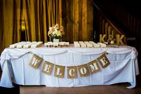 Barn Reception Welcome Table