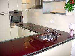 plan de travail cuisine en verre sablart cuisine