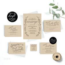 Rustic Wedding Invitations Cheap Invitation Template Formal Printable Vintage