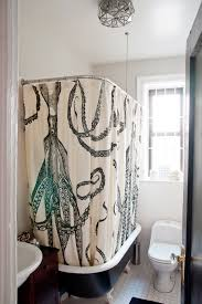 octopus shower curtain with bathroom eclectic and contemporary