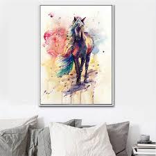 bdrsjdsb leinwand ungerahmt malerei aquarell pferd bild