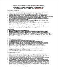 Senior Business Analyst Resume Free PDF Template