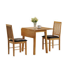 Small Dining Room Spaces With Drop Leaf Table Sets Narrow Chairs