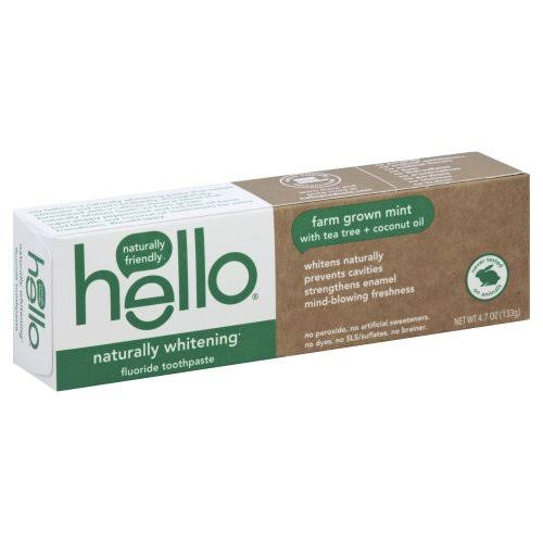 Hello Naturally Whitening Fluoride Toothpaste - 4.7 oz