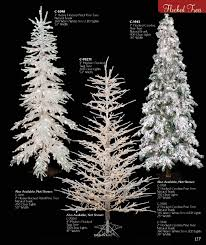 Snow Flocked Slim Christmas Tree by Flocked Snowy Christmas Trees
