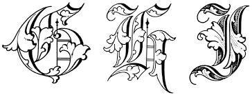 Old English Alphabet A Z His Is From Art Alphabets And