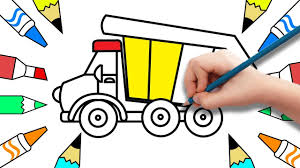 How To Draw Dump Truck And Car Coloring Pages | Coloring Pages For ... How To Draw Dump Truck Coloring Pages Kids Learn Colors For With To A Art For Hub Trucks Boys Make A Cake Hand Illustration Royalty Free Cliparts Vectors Printable Haulware Operations Drawing Download Clip And Color Page Online