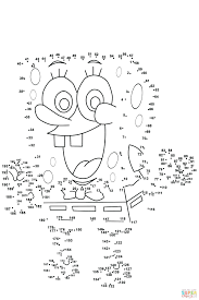 Free Spongebob Colouring Pictures Dot Printouts Printable Coloring Pages Draw Squarepants Printables
