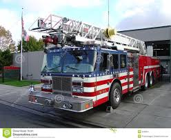 Fire Truck And Station Stock Photo. Image Of City, Parked - 346004