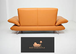 koinor rossini designer zweisitzer orange leder sofa