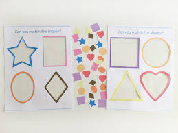 Download This Printable Preschool Shape Matching Activity