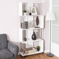 US 9999 Giantex Industrial Style 4 Shelf Modern Bookcase Living Room Storage Display Unit Bookshelf White Home Furniture HW56698 On Aliexpresscom