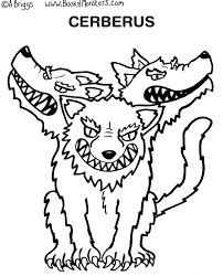 Monsters Coloring Pages Book Of Page For Kids Cerberus Greek Mythology