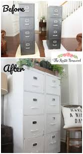 Americana Decor Chalky Finish Paint Colors by Before And After Metal File Cabinet Makeover The Rustic
