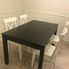 Wooden Dining Table And Chairs Seller Can Meet Near Houston TX