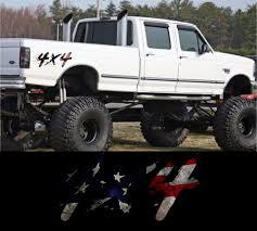 100 Redneck Truck Stickers 4X4 AMERICAN FLAG TRUCK REDNECK DIESEL PICK UP OFF ROAD STICKER