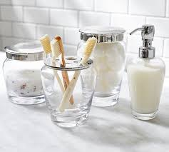 Pottery Barn Bathroom Accessories by Ultimate Bath Accessories Clear Glass Pottery Barn