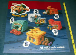 Mcdonalds Halloween Pails Ebay by Rare Promo Poster The Flintstones Happy Meal Toys 4613