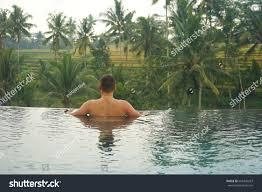 100 Bali Infinity Man Pool Ubud Indonesia Stock Photo Edit Now