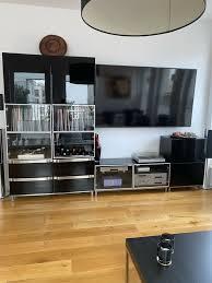 tv schrank wohnwand wohnzimmer sideboard lowboard schwarz lack