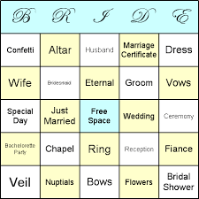 How To Play Bridal Shower Bingo