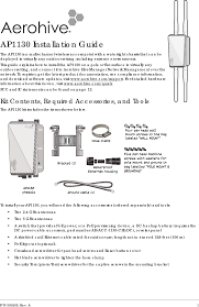 Hild Floor Machine Manual by Ap1130 Access Point User Manual Ap1130 Installation Guide Aerohive