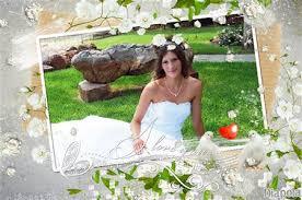cadre photo mariage gratuit montage photo mariage cadre roses blanches avec diapola