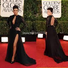 2015 black prom dress sheer lace top long sleeve keyhole