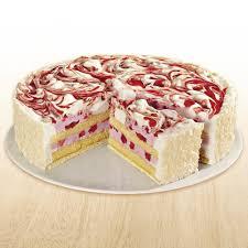 erdbeer sahne torte ungeschnitten froneri schöller