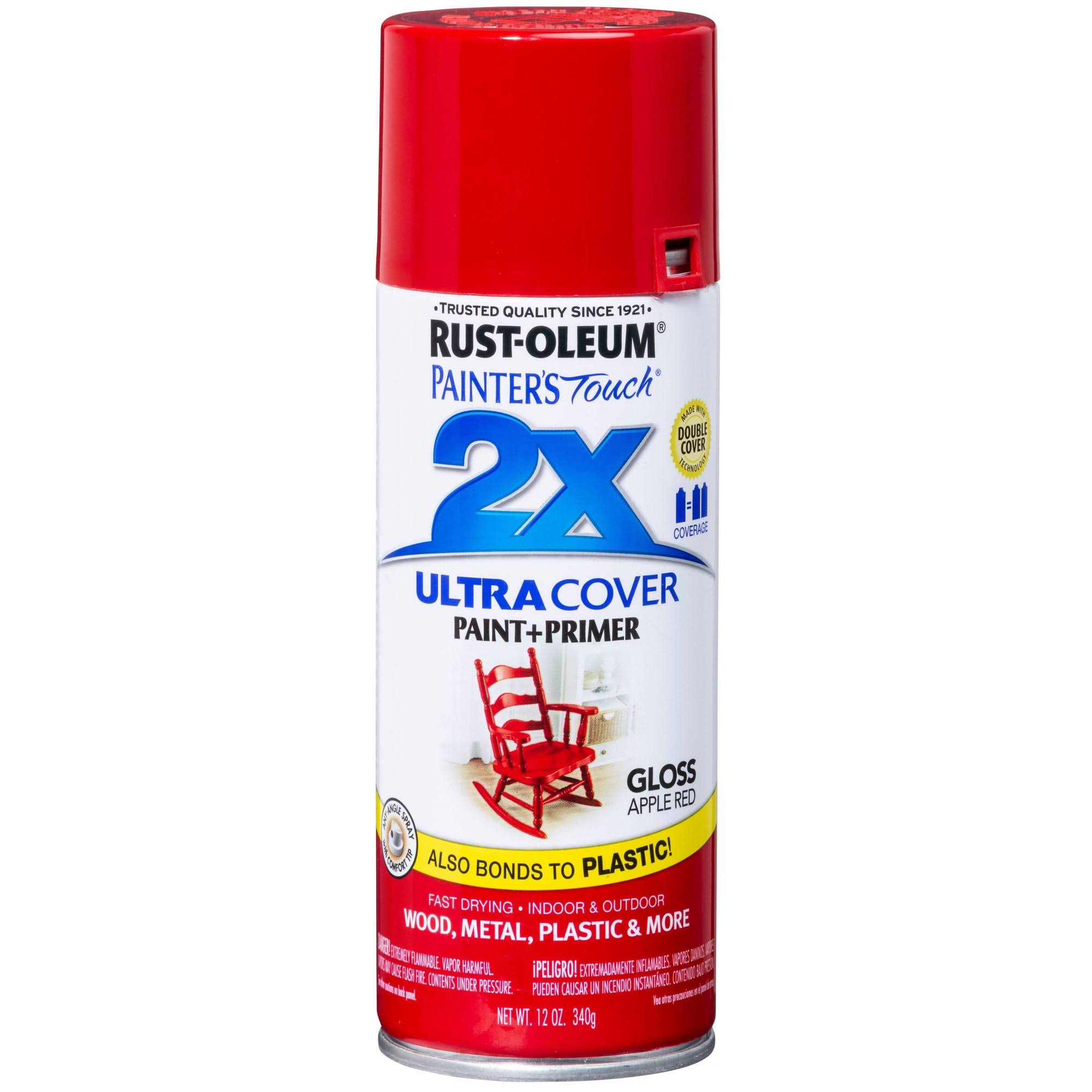 Rust-Oleum Painter's Touch Spray Paint - Gloss Apple Red, 340g
