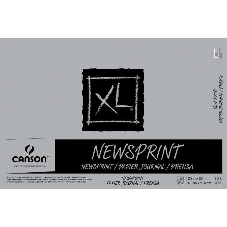 "Canson Biggie Newsprint Tape Bound Pads - 24"" x 36"", 100 Sheet"