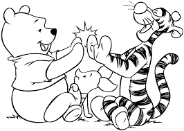 Popular Character Free Coloring Activity Winnie The Pooh