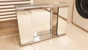 design metalkris spiegel badezimmer schrank chrom wc