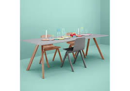 copenhague table cph 30 hay tisch mit platte aus linoleum