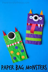 Pre K Halloween Books by Paper Bag Monster Puppets Puppet Crafts Halloween Kids And Puppet